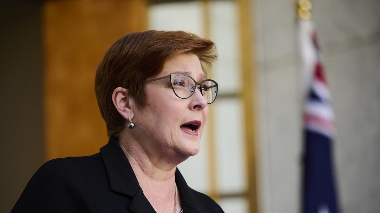 Australian Foreign Minister Marise Payne. Picture: Rohan Thomson/Getty Images