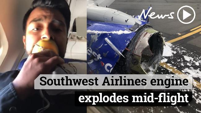 Southwest Airlines engine explodes mid-flight