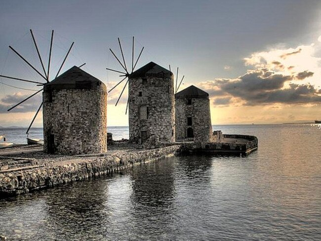 The ancient windmills of Chios. Picture: Konstantinos/Flickr