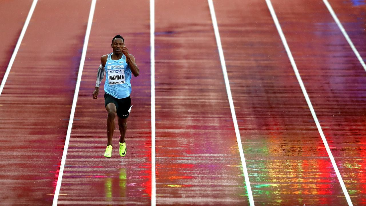 Isaac Makwala of Botswana competes solo in the Men's 200 metres. Picture: Michael Steele