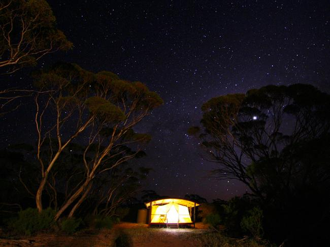 14/14Gawler Ranges Wilderness SafarisGawler Ranges Wilderness Safaris runs outback tours from a camp based in a stunning mallee wilderness region in South Australia, which features over a hundred species of birds and other native wildlife. Recycled materials were used to construct the camp and furniture in the luxury safari tents, giving it a tasteful, rustic look.