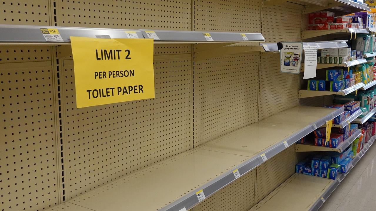 Supermarkets across the country have implemented limits on products as pandemic hoarding intensifies. Picture: Getty Images.