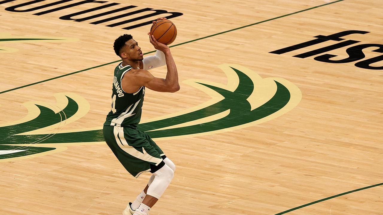 Giannis Antetokounmpo overcame a horror night from deep in an epic battle with Kevin Durant.