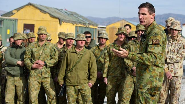 In command ... Major General Angus Campbell conducting a visit of patrol bases in Uruzgan Province.