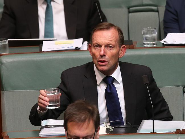 Tony Abbott's father is seriously ill in hospital. Picture: Kym Smith