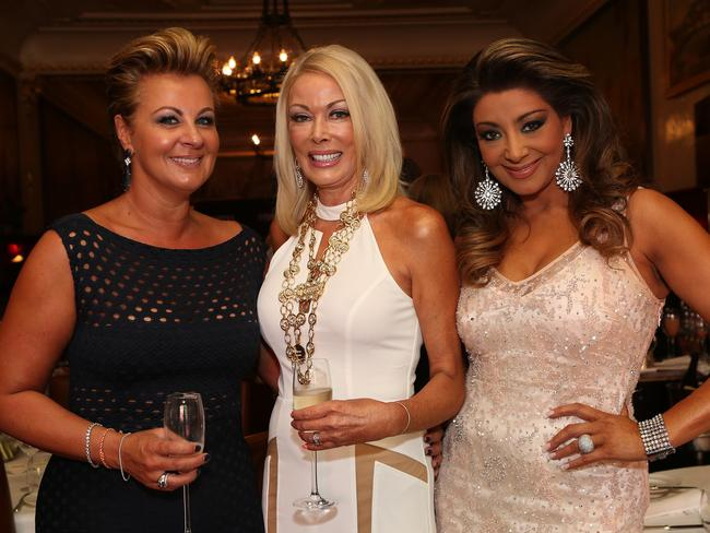 The Real Housewives Of Melbourne ... Chyka Keebaugh, Janet Roach and Gina Liano. Picture: Julie Kiriacoudis