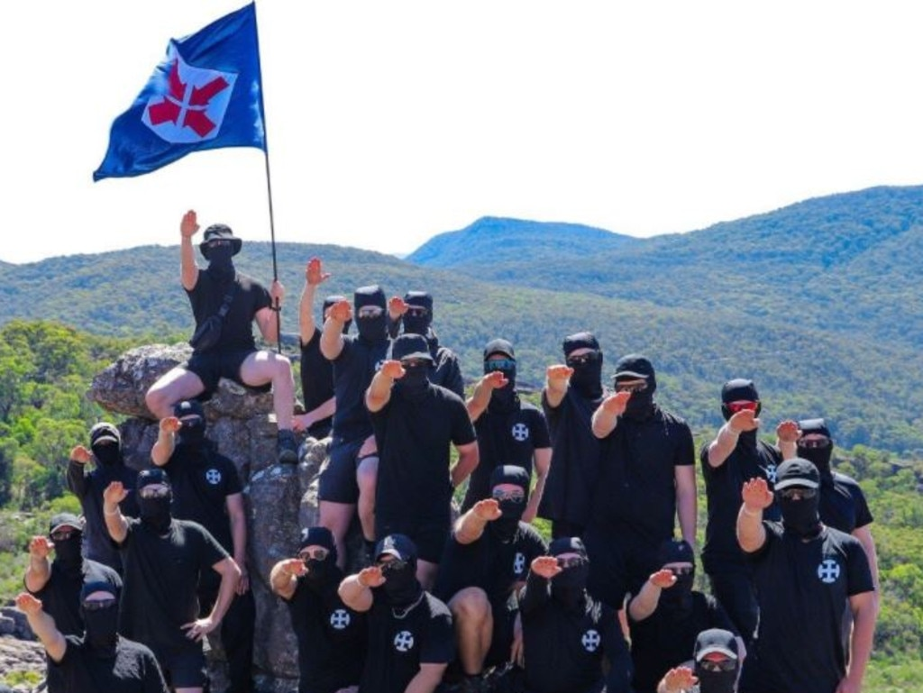 The white supremacists gave Nazi salutes and were heard chanting 'Heil Hitler' and 'white power' during their trip.