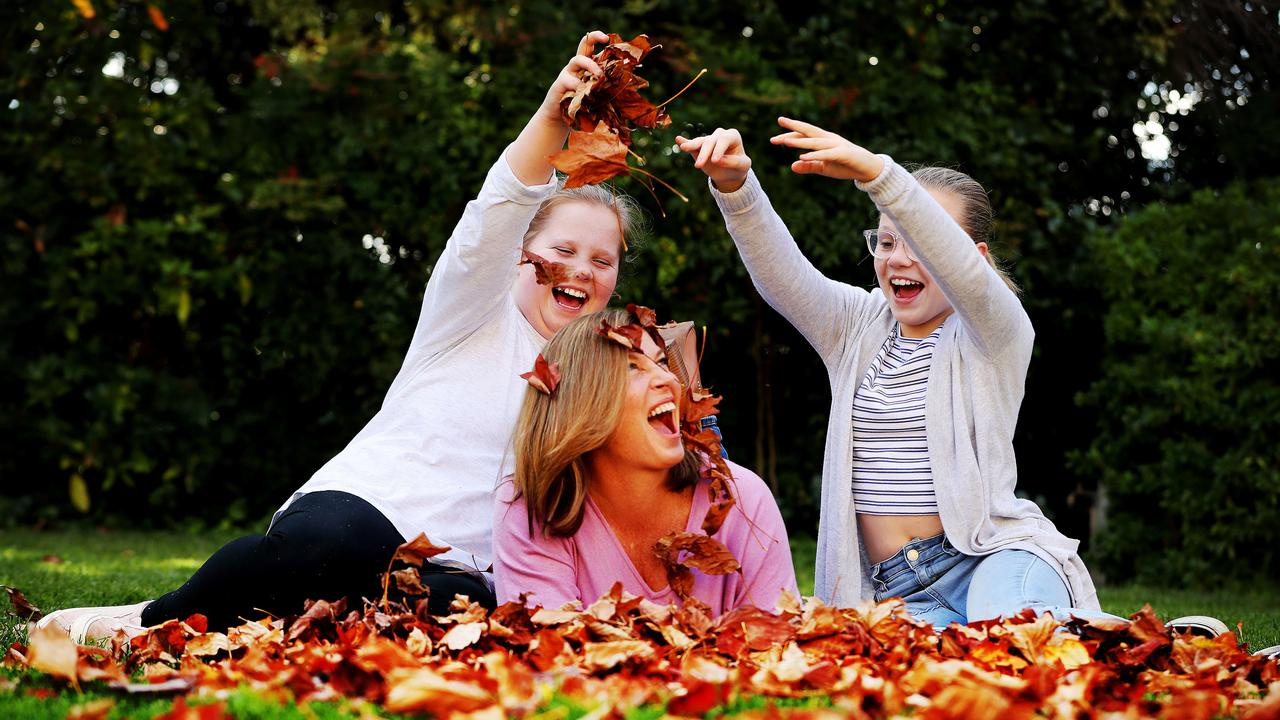 Jenny Morrison experienced mild depression when her daughters Lily and Abbey were very young. Picture: Adam Taylor
