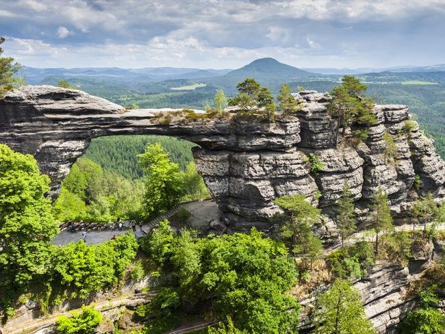 BOHEMIAN SWITZERLAND NATIONAL PARK, CZECH REPUBLIC: If Prague isn't enough of a fairytale destination for you, try heading a couple of hours out of town to Bohemian Switzerland. The national park's mystical landscape features pine forest, canyons, gorges, rock towers and ancient castle ruins. Chief among its attractions is Pravcicka brana, a 16m-high, 8m-wide striking natural sandstone arch that's the biggest in Europe. Another of its claims to fame is being home to several worm species found nowhere else in the world. The 79sq km park was established in 2000, and borders Germany's Saxon Switzerland National Park. npcs.cz