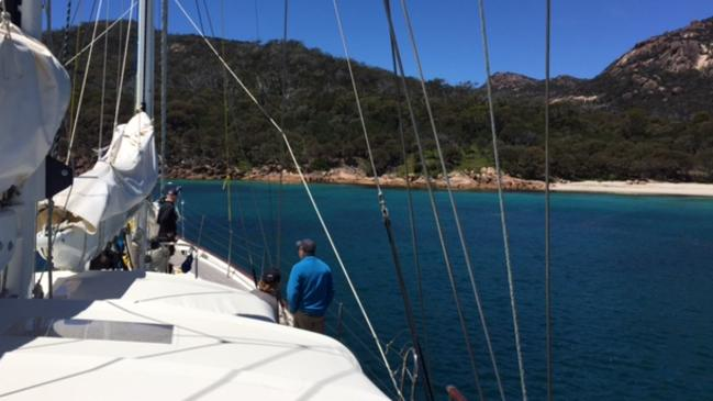 Arriving in some of the beautiful remote islands of Tasmania.