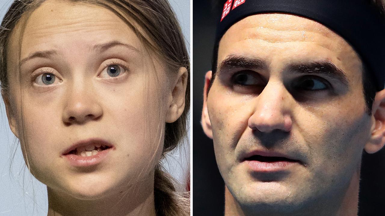 Greta Thunberg helped drag Roger Federer into a climate change storm.