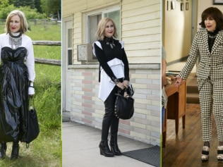 Far from basic, her outfits represent a woman who lives theatrically every day. Images: Pop TV