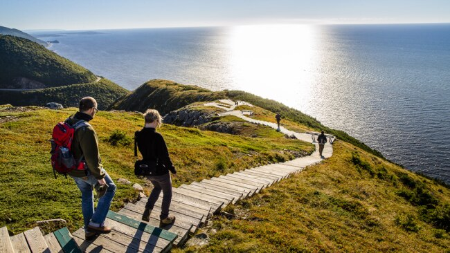 Soak up the sunshine with a walk at Cape Breton Highlands National Park. Source: Parks Canada.
