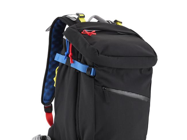 JOLLY SWAGMAN, $399 FROM CRUMPLER This one might not be the largest backpack going but with loads of quick-access pockets, a removable scrunchable bag, side compression, an expansion gusset and internal laptop pocket, you'll have plenty of room for all your business and pleasure essentials.