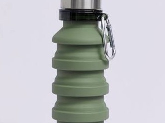 COLLAPSIBLE WATER BOTTLE, $24 FROM LOST Forgo single-use plastics and having to constantly fill up those tiny cups with this fab water bottle. It collapses down when you don't want to be carrying around any extra weight. Simply refill it after security and keep watered on the go.