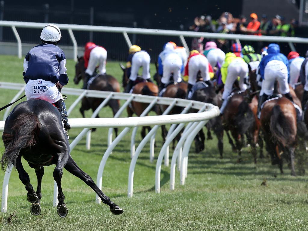 Cliffsofmoher gets pulled up at the back of the field after breaking down. Picture: Michael Klein