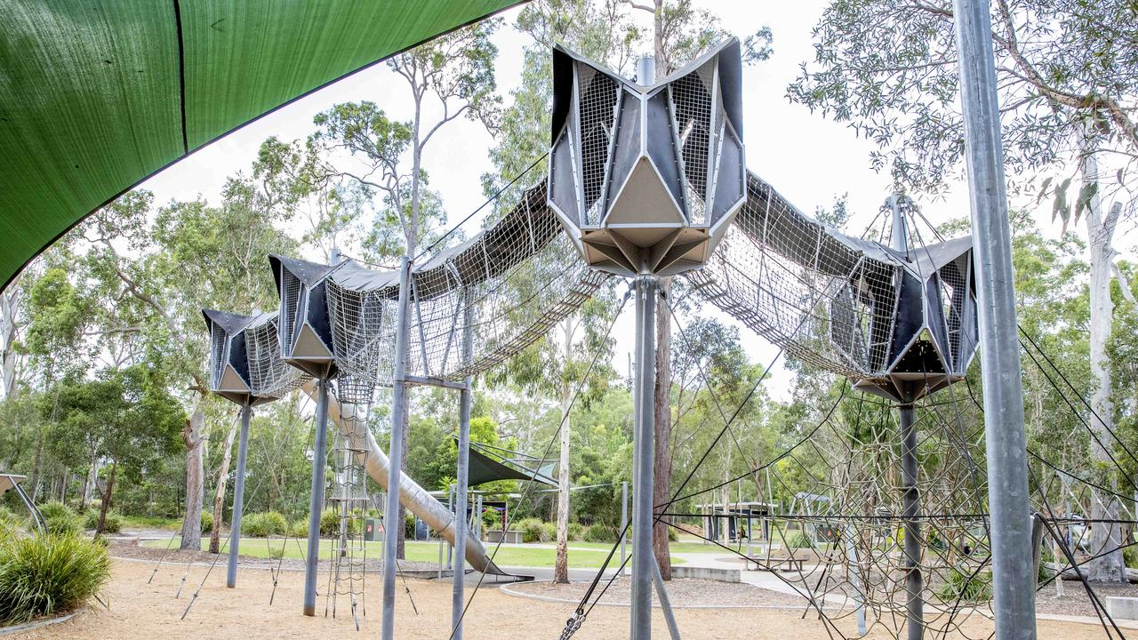Calamvale District Park, in Brisbane, where the rapes are allege to have taken place. Picture: Richard Walker