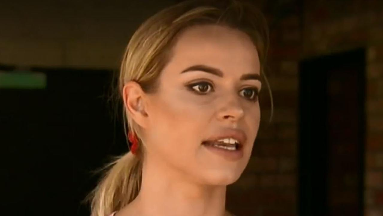 Jade said the gang threatened to kill the couple and made other vulgar remarks. Picture: Nine