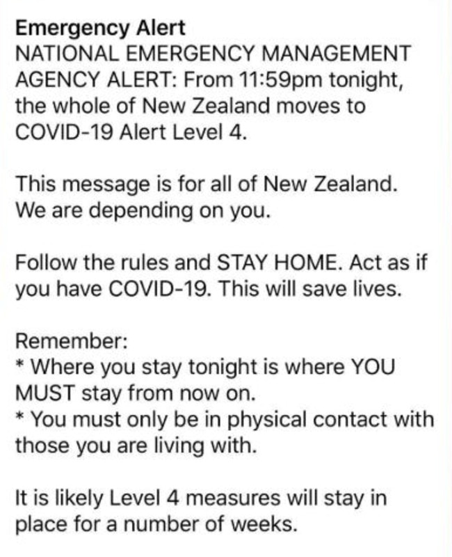 The New Zealand Government's text.