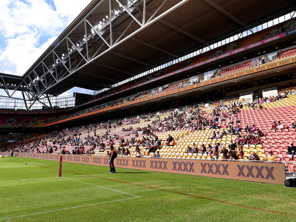 Brisbane's Suncorp Stadium could host NRL double and triple-headers with all nine Sydney clubs based in Queensland. Picture: Bradley Kanaris/Getty Images