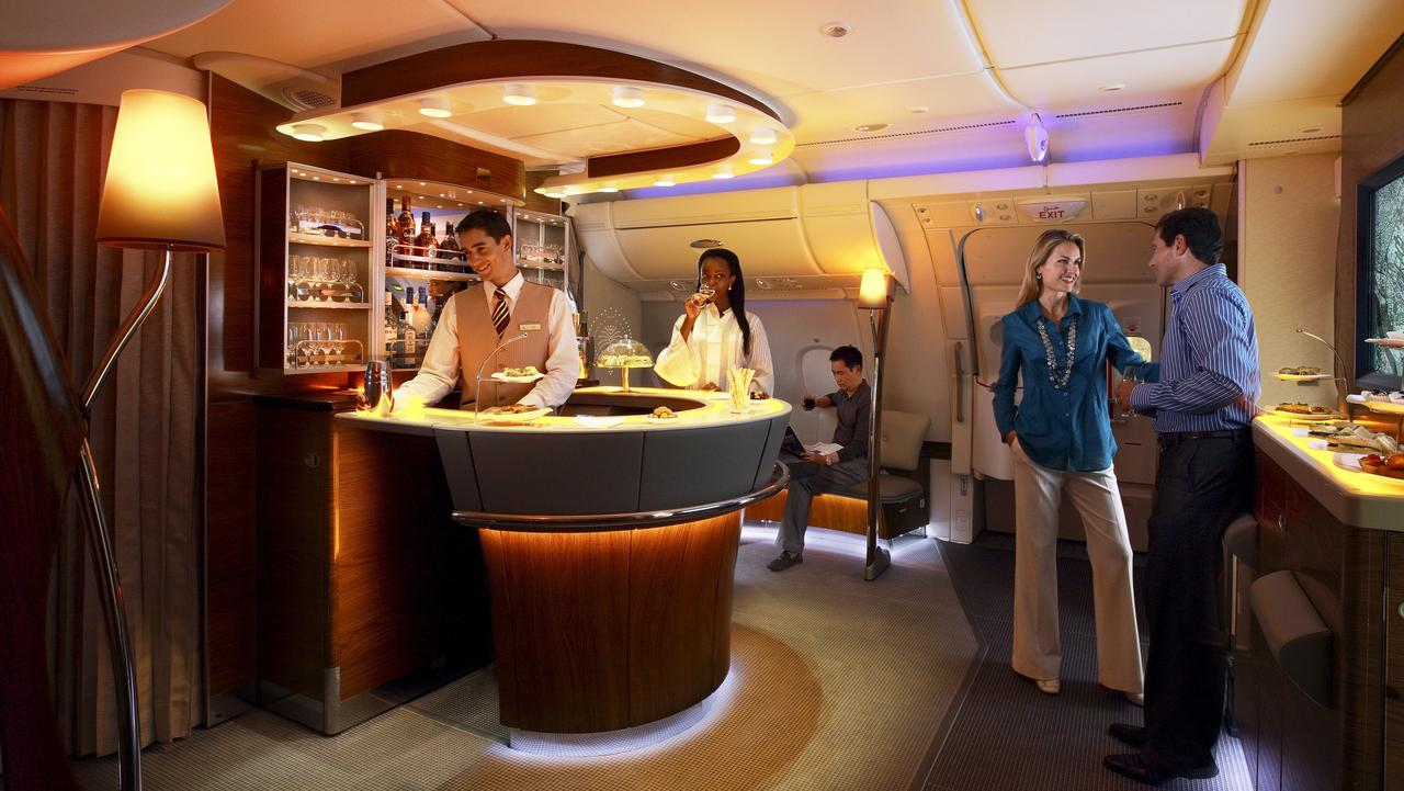 Emirates Image, A380, First And Business Class Onboard Lounge
