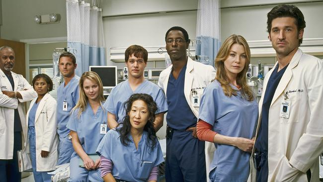 The original cast of Grey's Anatomy, which premiered in 2005.