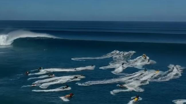 Jet ski carnage in wild Hawaiian surf
