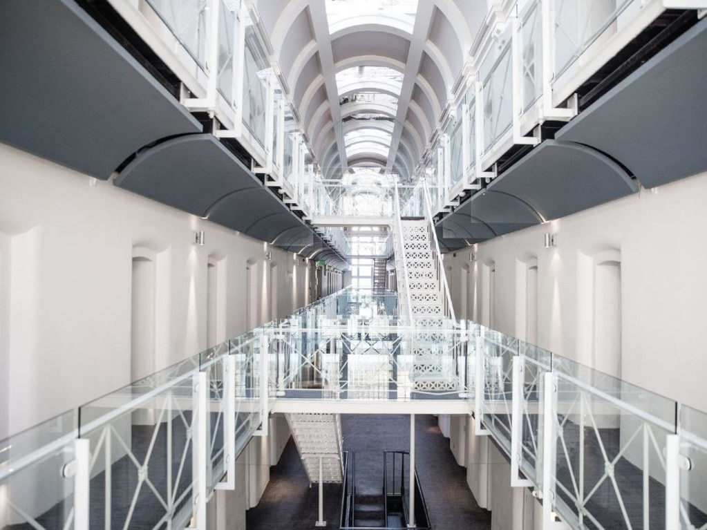 Malmaison Hotel used to be Oxford Prison, but now its walkways have been turned into a sleek place to stay. Picture: Malmaison Hotel