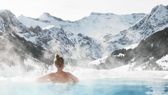 9/20 The Cambrian Adelboden, Switzerland Nestled in the Swiss Alps amid crystal-clear air, the Cambrian's hot outdoor pool will have you feeling rejuvenated, revitalised, and ready to hit the slopes.