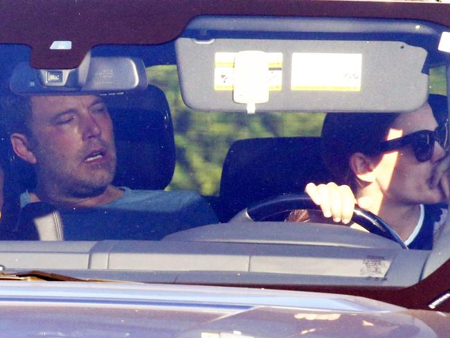 Ben Affleck, pictured en route to rehab. Picture: Backgrid
