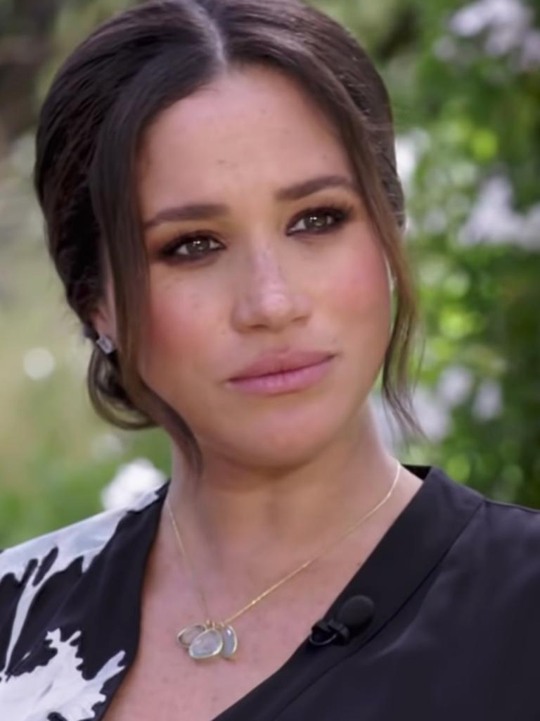 Meghan didn't say anything during the teaser. Picture: CBS