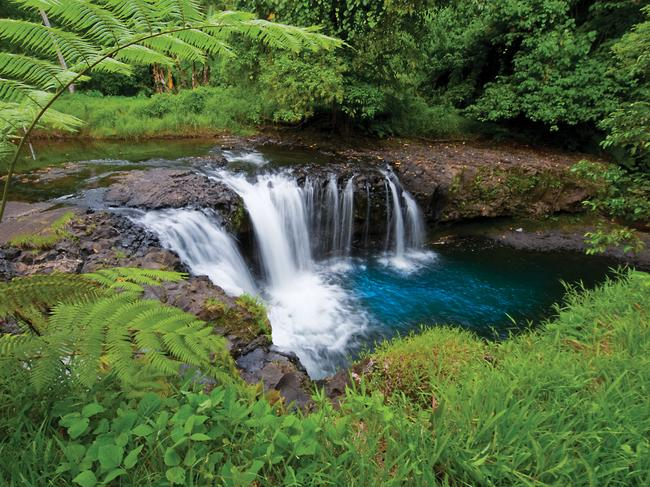 HIKE OR BIKE TO INLAND WATERFALLS In Samoa's island interiors waterfalls cascade and drop into rivers winding their way to the ocean. After hiking or cycling along bush tracks to reach them you can cool down in the swimming holes found below most, including at Afu Aau, Olemoe, and Sopoaga falls. Picture: David Kirkland/Samoa Tourism