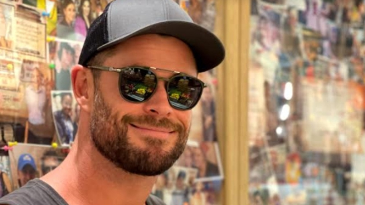 Chris Hemsworth poses for photos at Chargrill Charlie's Woollahra store in Sydney. Picture: Supplied by Example