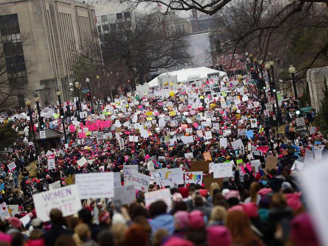The Women's March on Washington drew hundreds of thousands from across the country. Picture: Aaron P. Bernstein/Getty Images