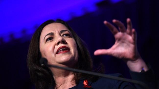 Queensland Premier Annastacia Palaszczuk got emotional during the debate. Picture: NCA NewsWire / Dan Peled