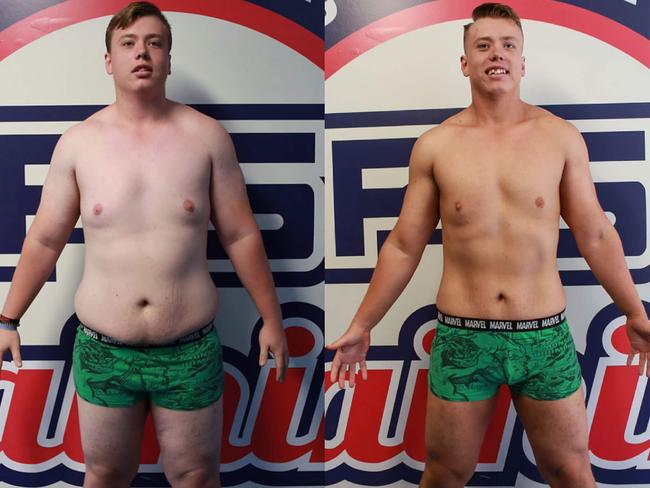 Sam dropped 21kg after his first eight weeks on the program.