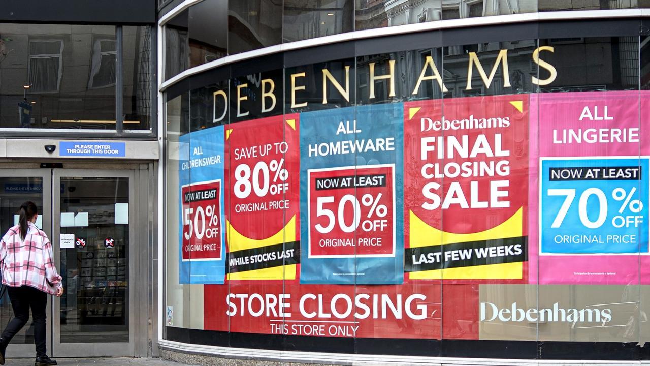 Debenhams' Belfast store days before it closed for good.