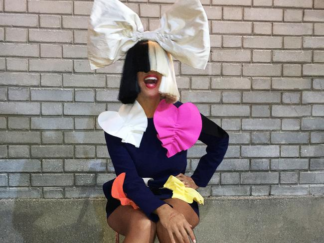 Sia decided to reinvent her pop image to escape the downside of fame at bay. Picture: Supplied