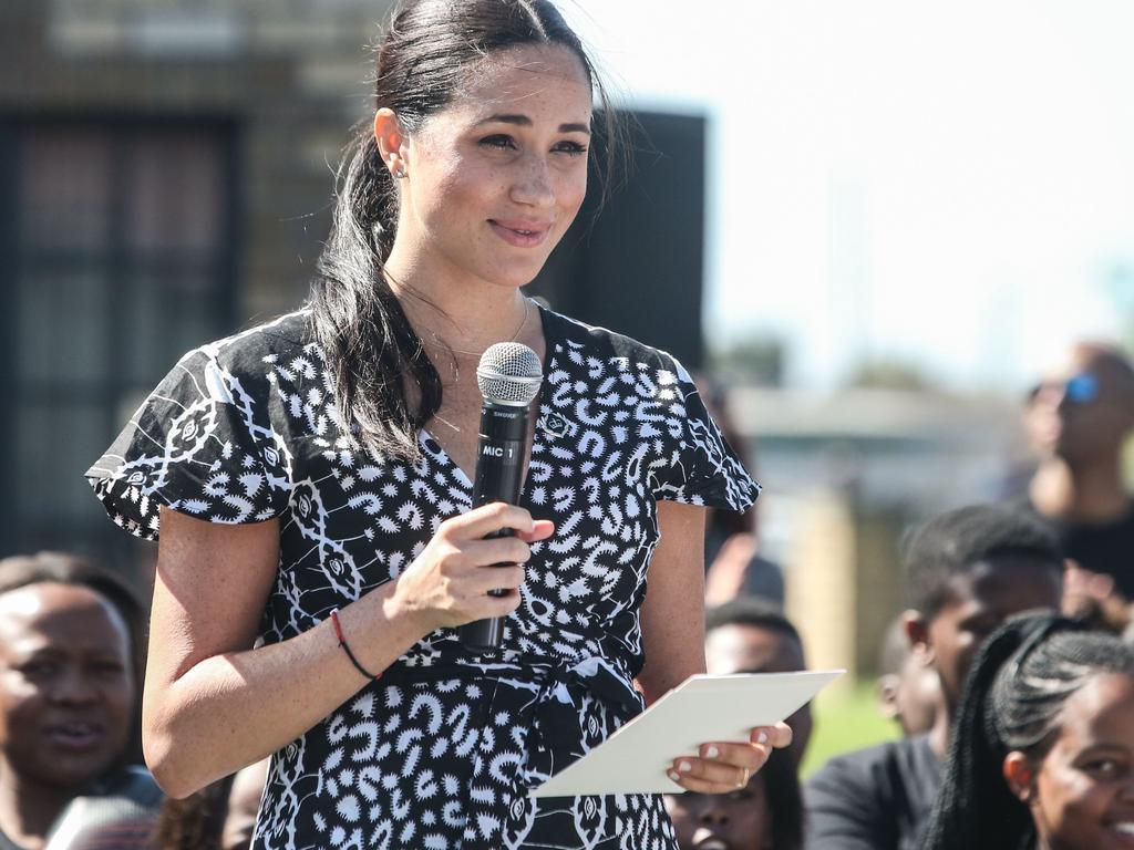 Meghan's heartfelt speech was a hit. Picture: Betram Malgas/AFP