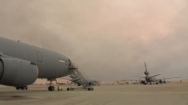 Smoke Rolls Over California's Travis Air Force Base