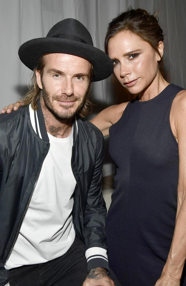 The Beckhams are more than just a couple — they're a business empire. Picture: Frazer Harrison/Getty Images for Ken Paves Salon)