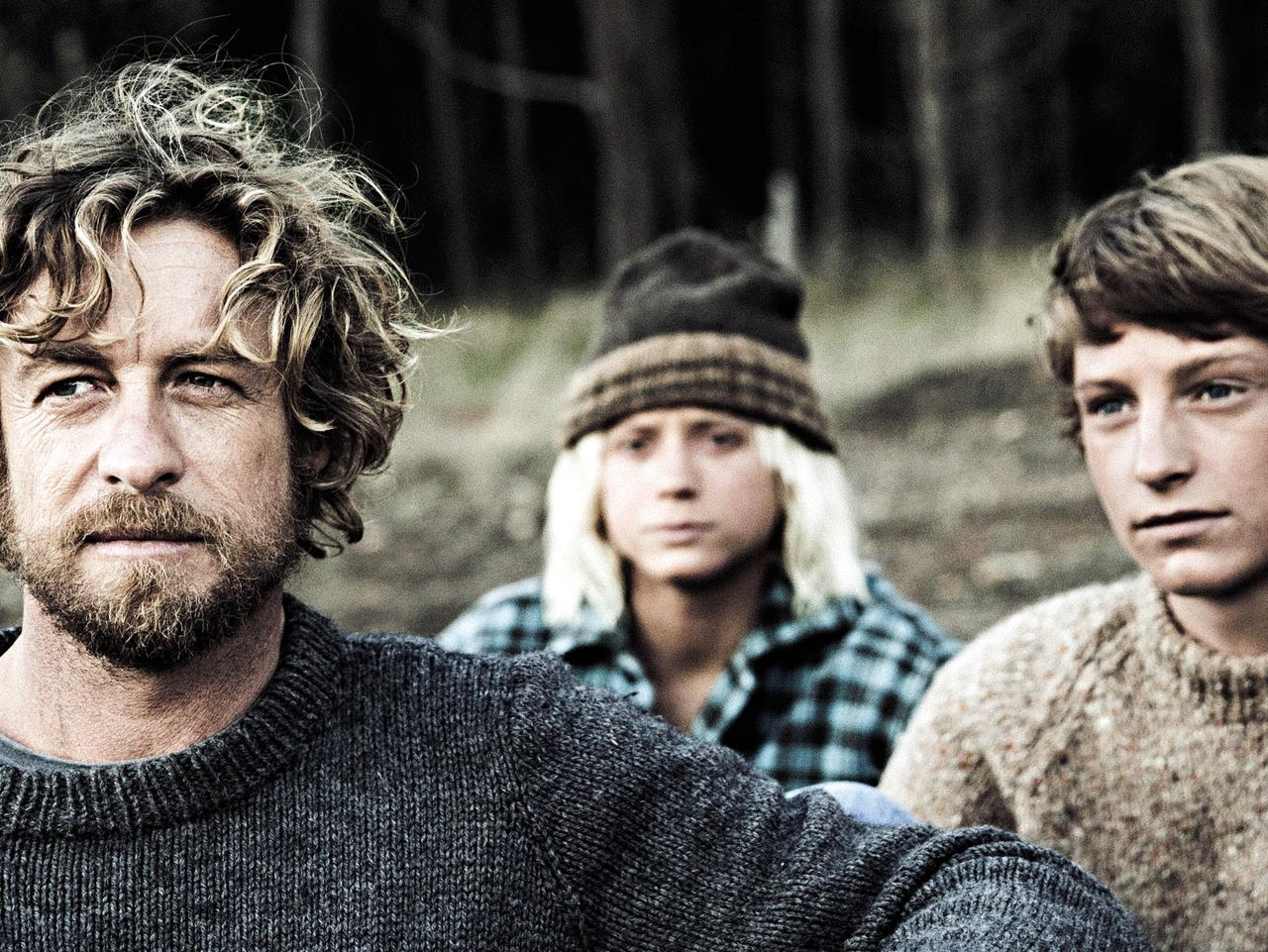 Simon Baker, Ben Spence and Samson Coulter in the film adaptation of Tim Winton's Breath