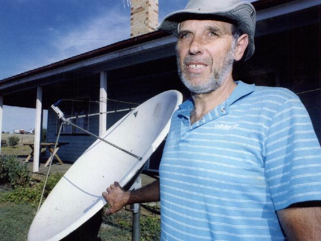 Ralph Vollmer (above) outside the house where he conducted the exorcism which killed his wife Joan. Picture: News Corp