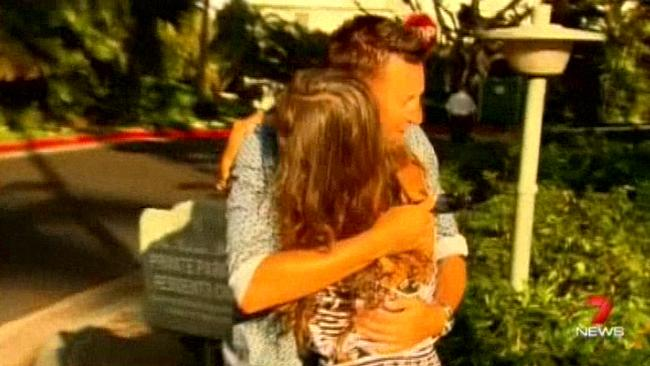 Robert Allenby with homeless woman Charade Keane in Waikiki,