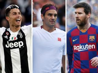 ronaldo messi and feder rich list