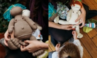 Doula creates epic birthing dolls to normalise labour