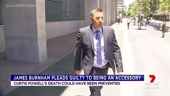 James Burnham pleads guilty to being an accessory to manslaughter (7 NEWS)