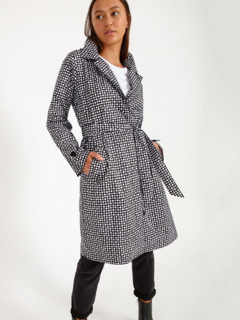 PAQME Everywhere Trench Raincoat, front. Image: Myer.