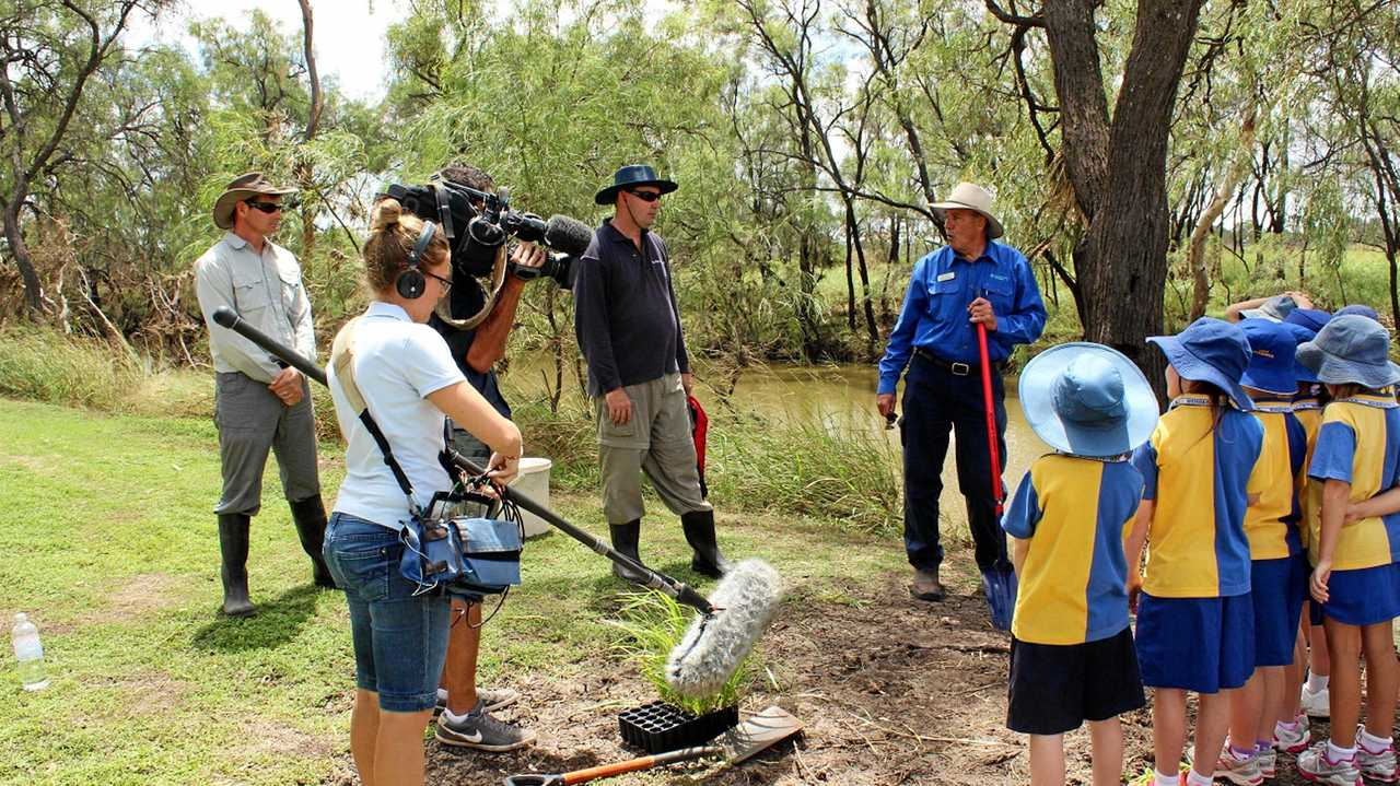 YOUR TURN: An episode of Totally Wild being filmed with students from Bowenville State School. Is it your turn next? Picture: Contributed