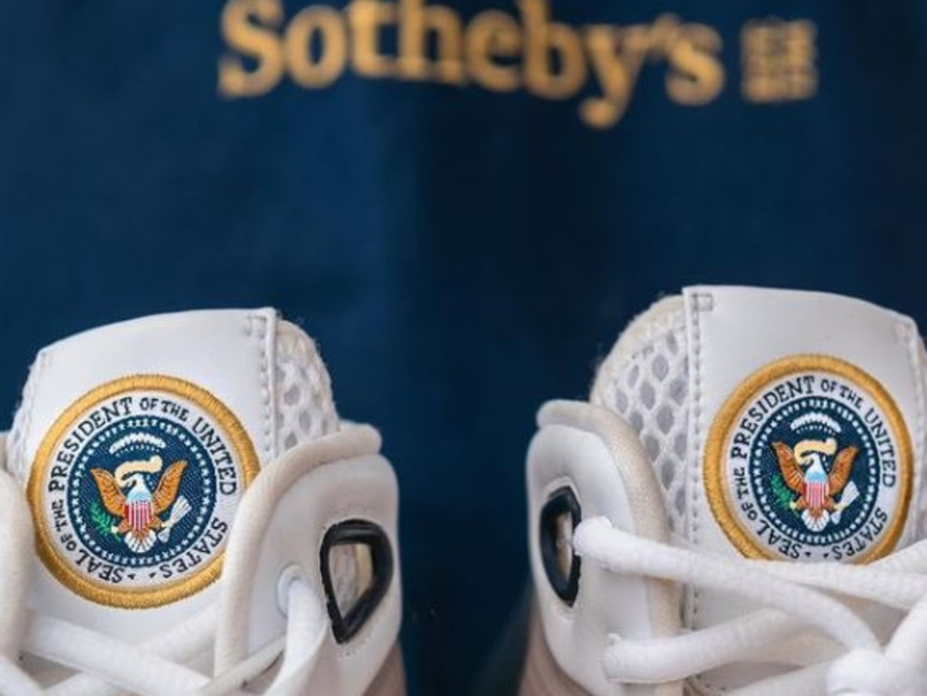 Sotheby's teased its latest sneaker drop on social media. Picture: @sothebys